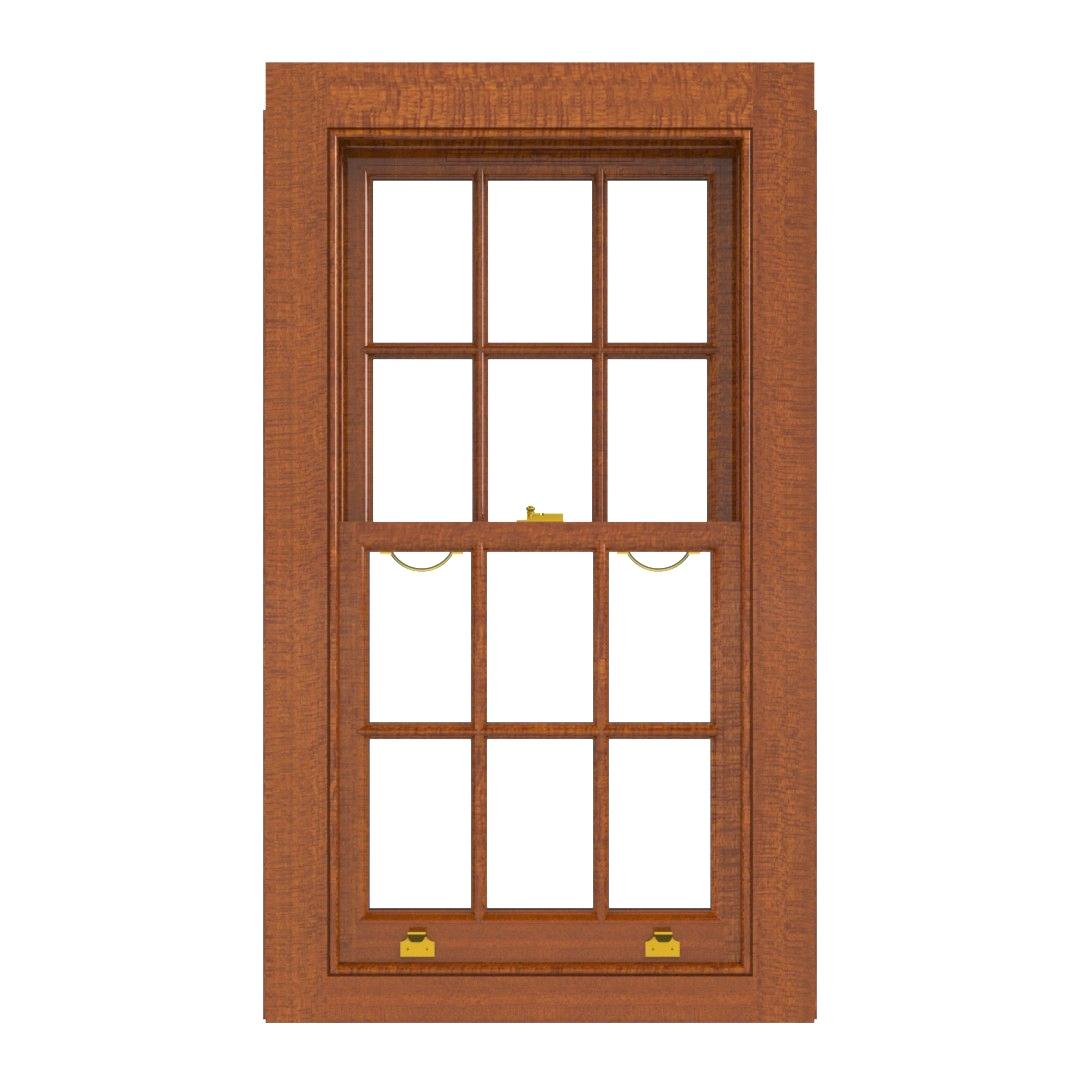 Traditional Sliding Sash Window PAT D Meranti(inside)